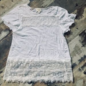 Anthropologie deletta lace T-shirt size s